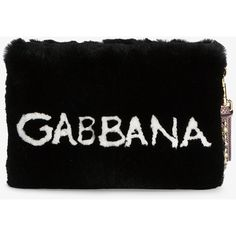 Dolce & Gabbana Cleo Fur Clutch Bag ($2,575) ❤ liked on Polyvore featuring bags, handbags, clutches, studded clutches, studded handbags, fur purses, fur clutches and studded purse
