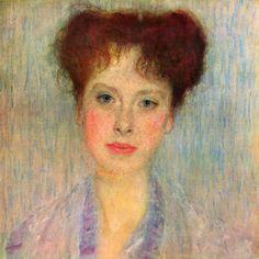 Portrait of Gertha Felsovanyi (detail), 1902 by Gustav Klimt