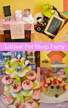 Housewife Eclectic: Littlest Pet Shop Party complete with paw print cupcakes and photo booth! #MC #Sponsored #LittlestPetShop