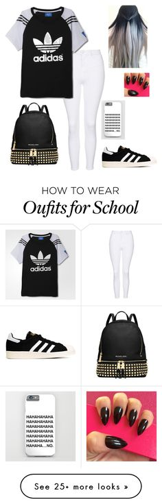 """School outfit (wednesday)"" by hopelessdreamer047 on Polyvore featuring Topshop, adidas, MICHAEL Michael Kors and adidas Originals"