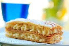 Μιλφέιγ με κρέμα λεμόνι Patisserie Vegan, Jam Tarts, Cake Cookies, Cupcakes, Apple Pie, Ice Cream, Sweets, Desserts, Recipes