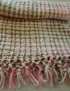 Baby Blanket pink camo  Hand woven Easy by SheSpinsKnitsWeaves, $29.00