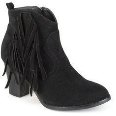 Women's Spin Faux Suede Fringed Booties -
