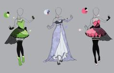 outfit adopt set 3 closed by scarlett knight Character Concept, Character Art, Character Design, Dress Drawing, Drawing Clothes, Fashion Design Drawings, Fashion Sketches, Chibi Kawaii, Anime Dress