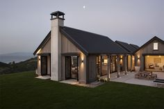 Modern Farmhouse Exterior Designs Displaying Classic Comfort in Today Style - Countryside house with modern Farmhouse exterior design bringing up the traditional style in new classy look Image Architecture Durable, Farmhouse Architecture, Modern Farmhouse Exterior, Lego Architecture, Enterprise Architecture, Farmhouse Office, Sustainable Architecture, Farmhouse Design, Contemporary Architecture