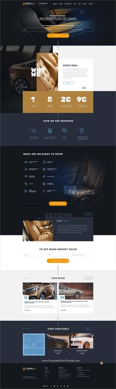 BrownCar is clean and modern design #PSD template for #car #repair and #redemption centers website with 3 different homepage layouts and 40 layered PSD pages to live preview & download click on Visit