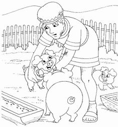 Prodical son Coloring Page Unique the Prodigal son with the Pigs Luke 15 Sunday School Projects, Sunday School Lessons, Preschool Bible, Bible Activities, Sunday School Coloring Pages, Parables Of Jesus, Bible Coloring Pages, Coloring Books, Prodigal Son