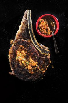 Fourth of July favorites: Grilled Rib Eye with Sweet-Hot Pepper Sauce