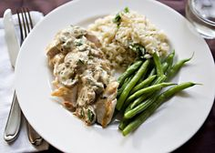 Chicken with wine cheese sauce