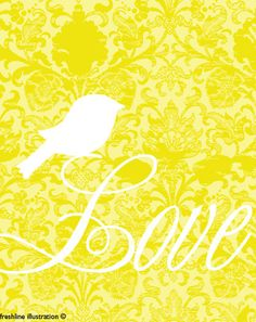 Bird Silhouette... I like how this one is on a letter...