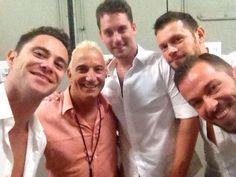 Artem, Henry, Tristan & Sasha dancing with Jay D Schwartz backstage at Hollywood Bowl 8-9 Aug 2014 (pic credit: @heatherd1961 via twitter)