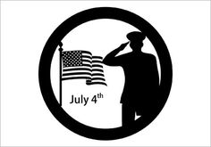 Salute The Flag Silhouette Graphics