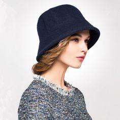 f9a1ef614c0 Plian wool coche hat for women fashion winter bucket hats