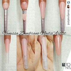 "Pipe nails and edge nails are a bit ""too much"" for me, personally, but I love the sculpting process. Fabulous Nails, Gorgeous Nails, Nail Art Modele, Different Nail Shapes, Edge Nails, Basic Nails, Nail Forms, Round Nails, Manicure E Pedicure"