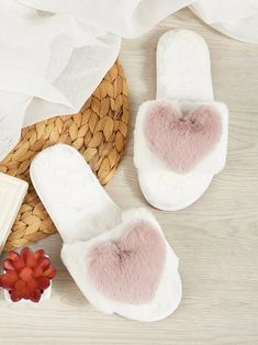 Heart Decor Fluffy Open Toe SlippersCheck out this Heart Decor Fluffy Open Toe Slippers on Romwe and explore more to meet your fashion needs! Heart Decorations, Womens Slippers, Ladies Slippers, Romwe, Free Gifts, Open Toe, Make It Yourself, Shoes, Fashion Earrings