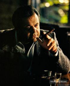 Paul Sorvino as Paulie Cicero in Goodfellas Famous Cigars, Cheap Cigars, Paul Sorvino, Goodfellas 1990, Smoking Celebrities, 1990s Films, Annie, Gangster Movies, People Smoking