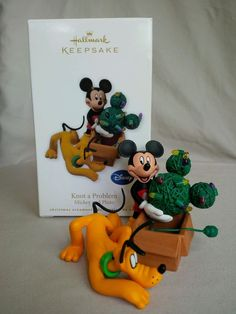 Hallmark 2010 'Knot a Problem' Mickey and Pluto Keepsake Ornament