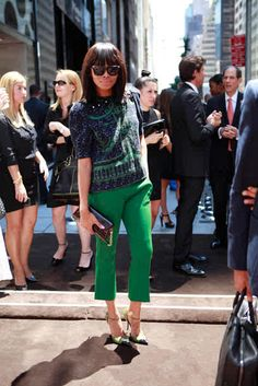 Bonang being oh-so high fashion.