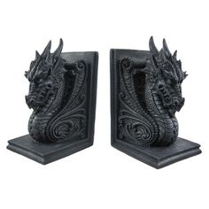 My books are lonely without their dragon bookends to keep them company....
