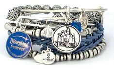 Pin for Later: 40 Disneyland Products That Will Help You Celebrate the Anniversary in Style Alex and Ani Anniversary Charm Bracelets Pulseras Alex And Ani, Alex And Ani Bracelets, Charm Bracelets, Anniversary Jewelry, 60th Anniversary, Diamond Anniversary, Alex And Ani Disney, Disney Parks Blog, Disney Designs