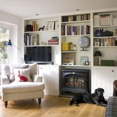 Floor-to-ceiling living room storage | Living room ideas for small spaces | PHOTO GALLERY | Housetohome.co.uk