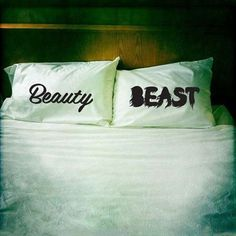 This Couples Pillow Set Was Inspired by Beauty and the Beast #couples #Valentines #otc #onthecouchmedia