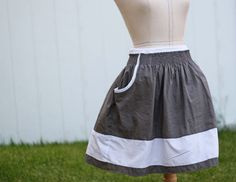 Running With Scissors: Tutorial: Shirred Pocket Skirt and free pattern