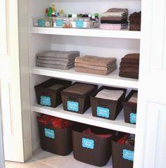 Linen Cupboard Orgsnisation