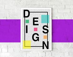 The idea behind this poster design was to have fun with typography and shapes. Profile Design, New Work, Mockup, Have Fun, Typography, Behance, Photoshop, Shapes, Graphic Design