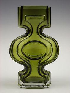 Riihimaki 'Emma' cased glass vase by Helena Tynell