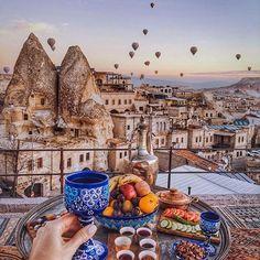 Goreme, Turkey ...   This beautiful picture is by: @tiebowtie  #goreme #turkey