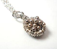 Silver Charm Necklace Sterling silver Pendant   Full of by Daniblu, $25.00