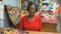 Nancy's Corner - Lola Jenkins, Art Quilts | Fiber artist Lola Jenkins explains her free spirit approach to fabric art using raw-edge appliqué to create beautifully crafted fabric portraits. She starts with an enlarged photo or sketch, and she uses small pieces of fabric and free-motion, thread painting, or random quilting to bring it to life. She fuses abstract and folk art into creatively crafted, award-winning portrait quilts.