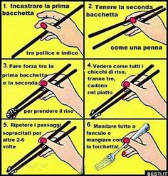 Funny pictures about How to use chopsticks. Oh, and cool pics about How to use chopsticks. Also, How to use chopsticks photos. Gruseliger Clown, Pokerface, Funny Quotes, Funny Memes, Quotes Pics, Chopsticks, Just For Laughs, Things To Know, Laugh Out Loud
