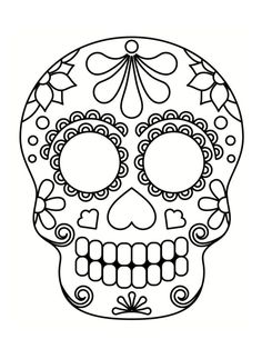 Home Decorating Style 2020 for Coloriage Tete De Mort Mexicaine A Imprimer, you can see Coloriage Tete De Mort Mexicaine A Imprimer and more pictures for Home Interior Designing 2020 at Coloriage Kids. Manualidades Halloween, Halloween Door Decorations, Halloween Crafts For Kids, Fall Halloween, Halloween Halloween, Vintage Halloween, Halloween Makeup, Halloween Costumes, Skull Coloring Pages