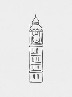 Big Ben Minimalista - On The Wall | Crie seu quadro com essa imagem https://www.onthewall.com.br/design-by-on-the-wall/minimalista/big-ben-minimalista #quadro #canvas #moldura #decor #londres #minimalista
