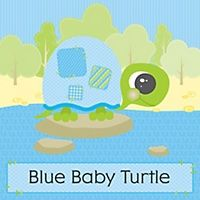 Blue Baby Turtle - Personalized Baby Shower Favor Boxes | BigDotOfHappiness.com