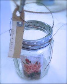 Handmade tea-light jam jars