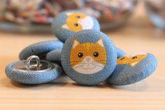 Guzik SWEET KITTY 001 (kot) Sweet Craft - 23mm - SweetCraft - Guziki dla dzieci