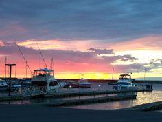 Sunset at Wright's Landing in Oswego, NY