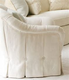 Image result for upholstered waterfall skirt club chair