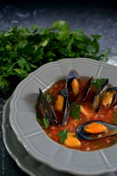 Ratatouille, Thai Red Curry, Stew, Soup Recipes, Seafood, Food And Drink, Vegan, Cooking, Ethnic Recipes