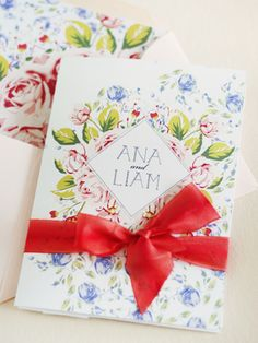 Oh So Beautiful Paper: Ana + Liam's Soft Floral Wedding Invitations