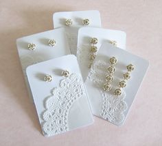 Paper Doily Earring Display Cards tutorial...can be adapted for cards or bookmarks too