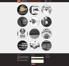 http://charlottetang.com/ Minimalistisk design. Meget roligt first impression. God farvebrug på hover til at fremhæve referencer.