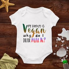 Vegan, Vegeterian, Baby Onesie, baby Boys clothing, Baby Bodysuit, Personalized Baby Bodysuit, Wild Child Style, Baby Gift, Custom onesie