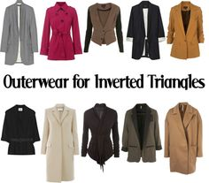 """Outerwear for Inverted Triangles-SS"" by kittyfantastica on Polyvore"