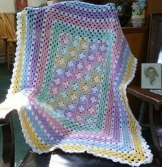 Lovely Pastel Crochet Baby Afghan Crochet Afghans Of Marvelous 47 Models Crochet Afghans Crochet Afghans ~ See the Latest Choices for Marvelous 47 Models Crochet Afghans to Get Unique Crochet Afghan Patterns Knitting Gallery for Crochet Afghans Baby Afghan Patterns, Baby Afghan Crochet, Baby Afghans, Crochet Granny, Crochet Blanket Patterns, Hand Crochet, Baby Blankets, Unique Crochet, Crochet Daisy
