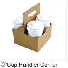 Take away coffee cup handler carriers