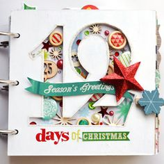 The One with the Garden Girl Holiday Mini Album Paige Evans December daily album Christmas Mini Albums, Christmas Journal, Christmas Scrapbook, Christmas Minis, 12 Days Of Christmas, Christmas Paper, Christmas Countdown, Christmas Crafts, Xmas